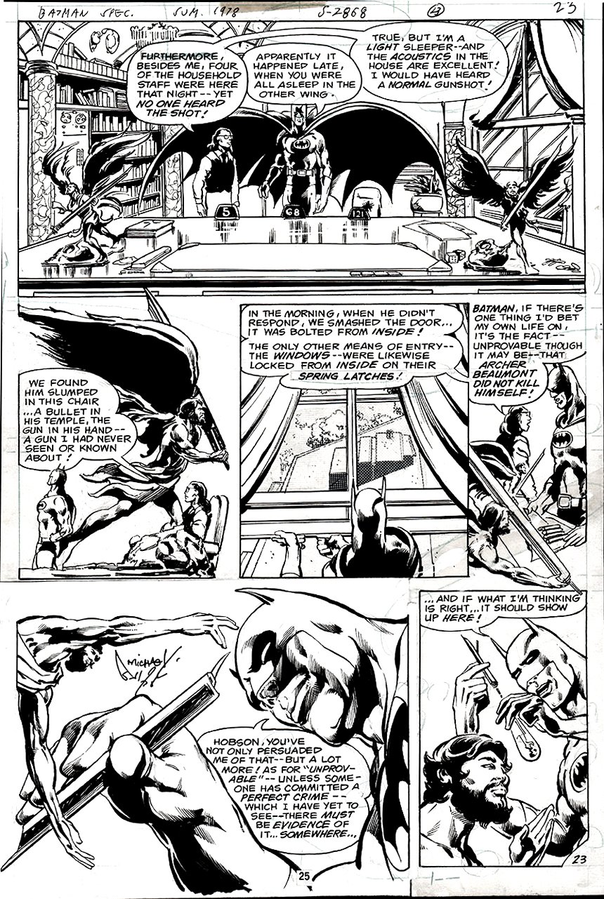 DC Special Series #15 p 23 (BATMAN IN EVERY PANEL!) 1978