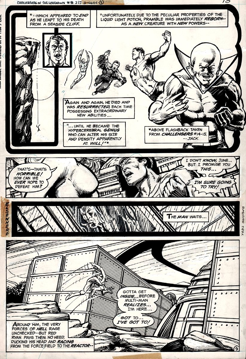 Challengers Of The Unknown #81 p 9 (GREAT ACTION!) 1977