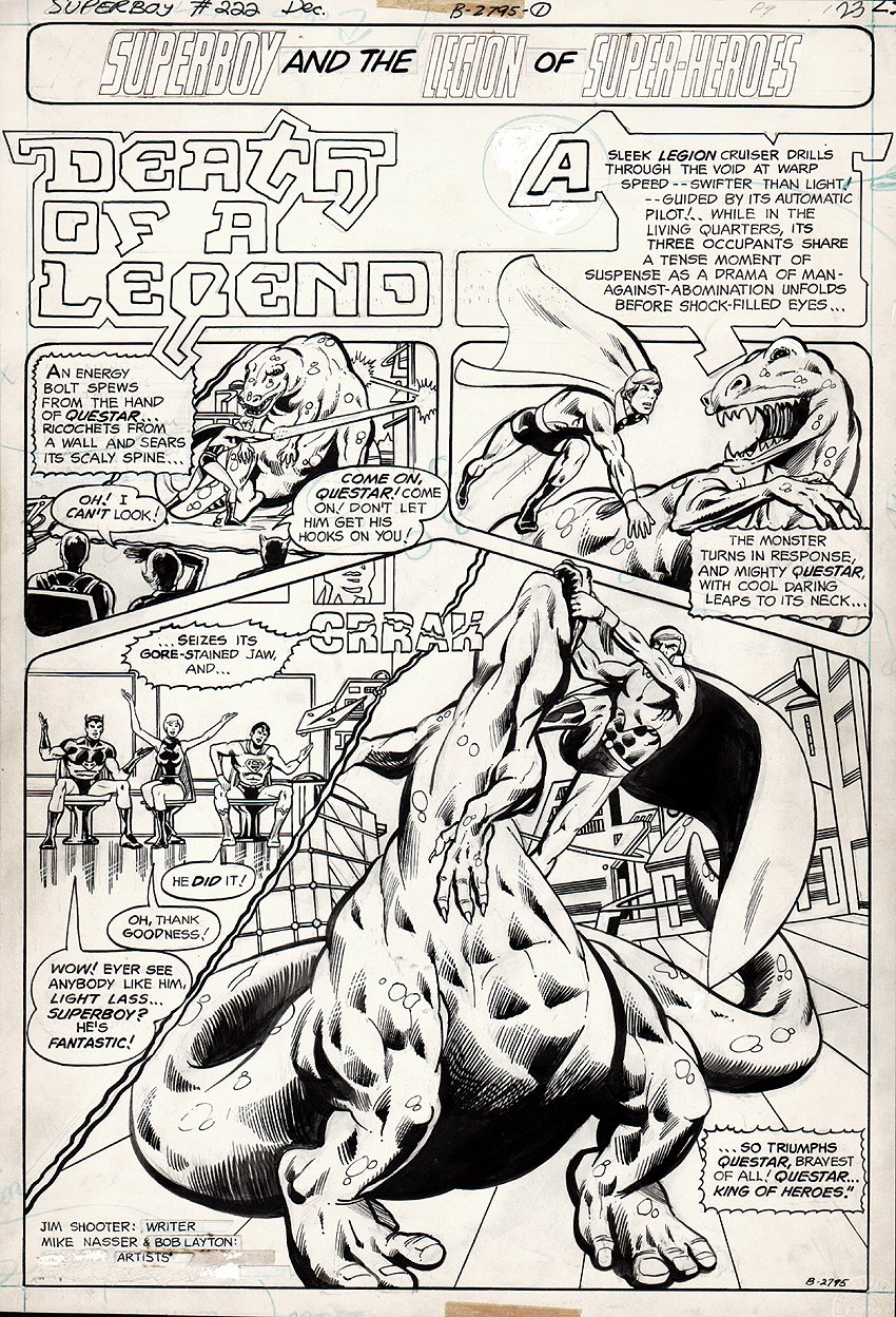 Superboy & the Legion of Super-Heroes #222 p 1 SPLASH (1976)