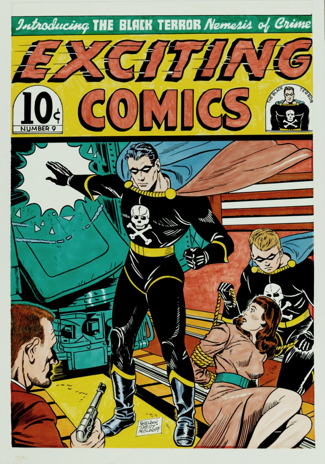 Exciting Comics#9 Cover Recreation (SOLD LIVE ON THE ROMITAMAN ART DROP PODCAST ON 10-9-2021)