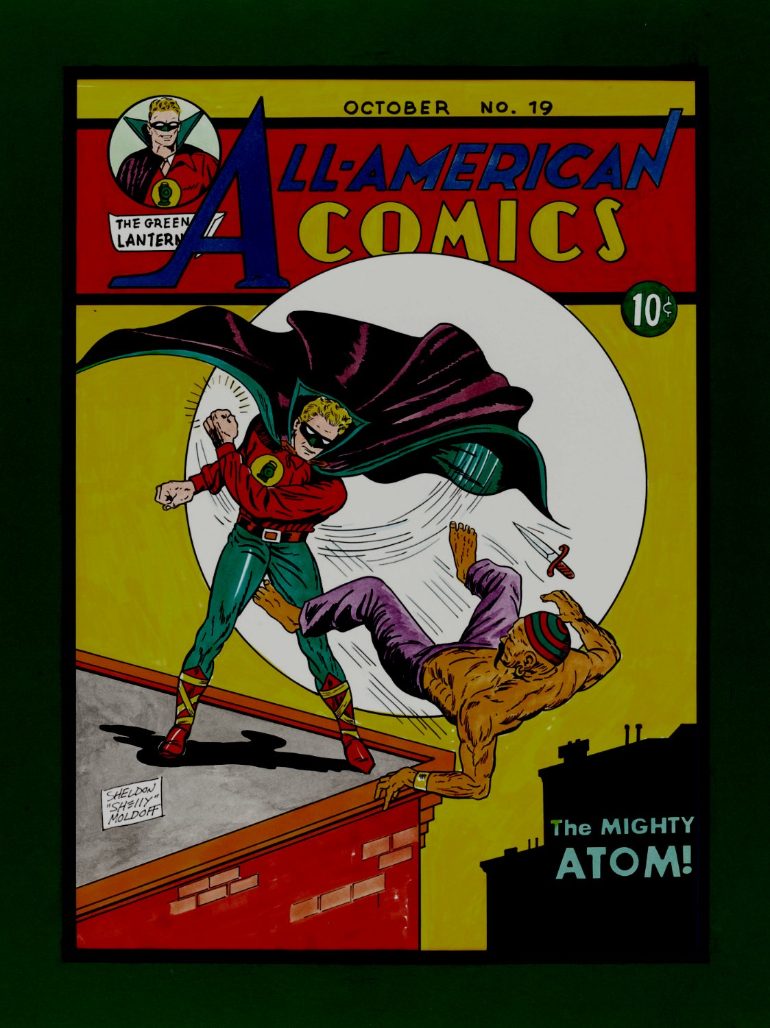 All-American Comics #19 Very Large Cover Re-Creation (1992)