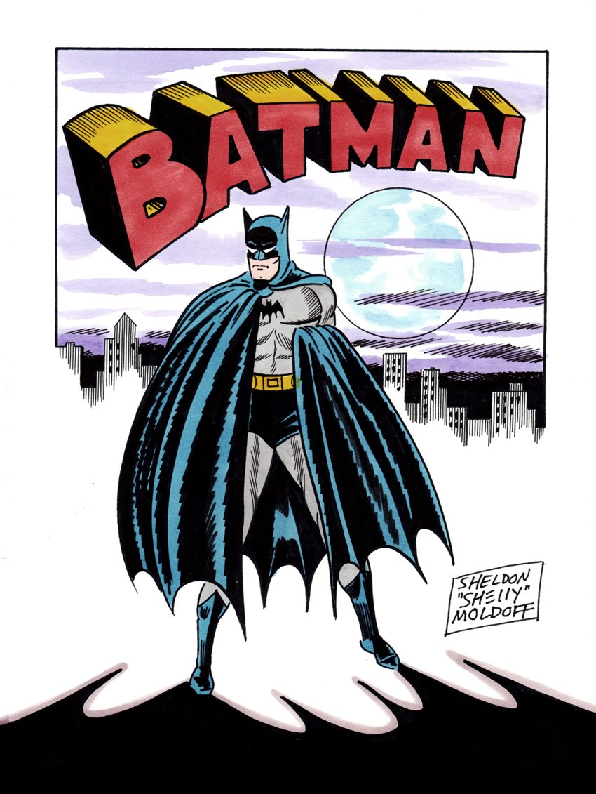 Classic Batman Pinup