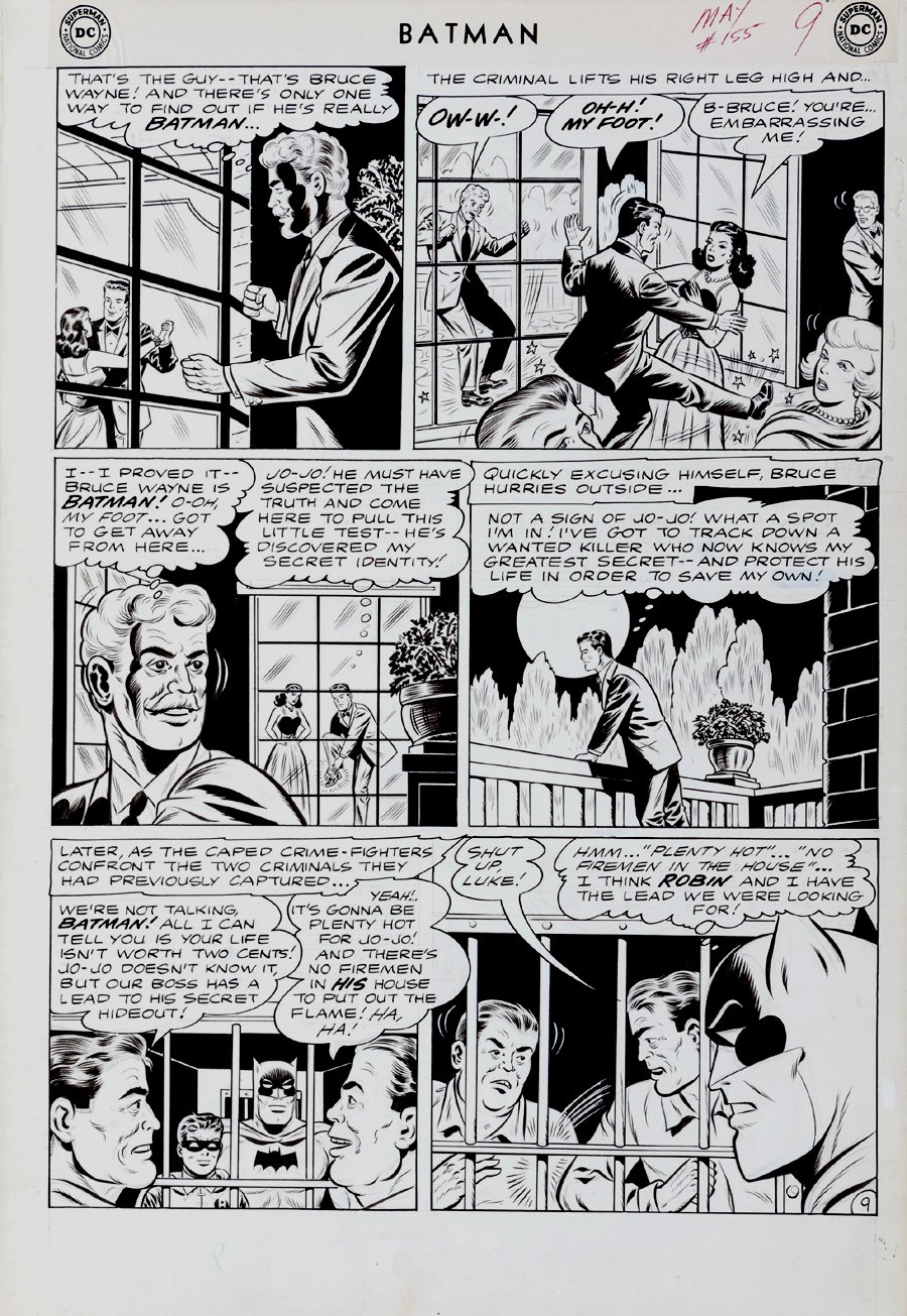 Batman #155 p 9 (Large Art) 1962