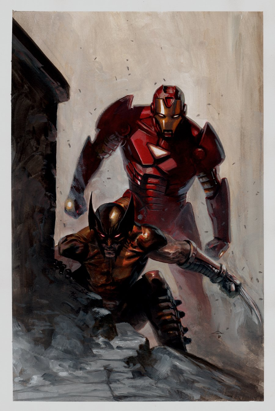 Wolverine & Iron Man Cover Quality Painting (AWESOME!) 2010