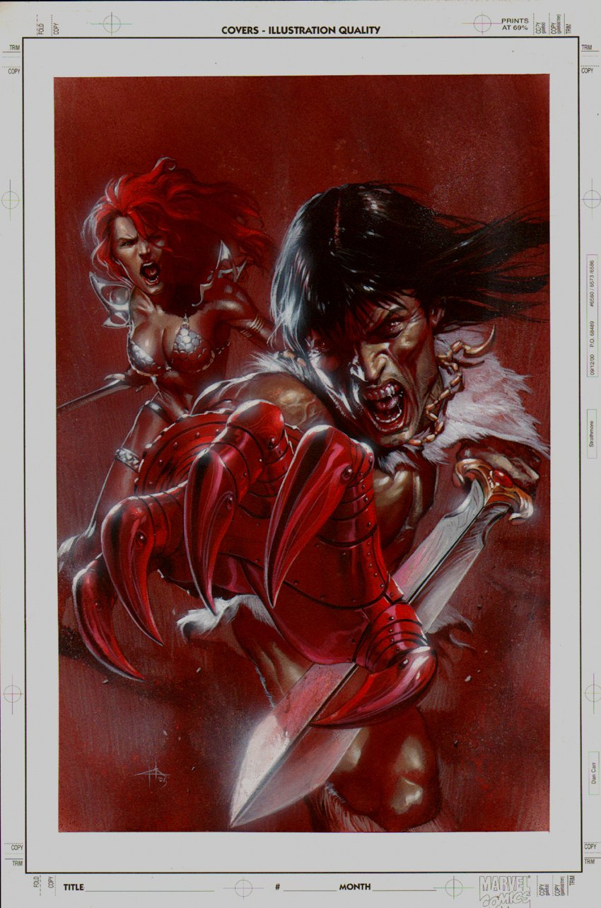 Red Sonja / Claw #2 Painted Cover (2006)