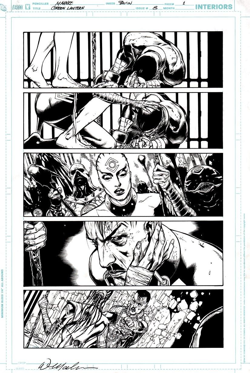 Green Lantern #8 p 1 (Green Lantern [Sinestro] Indigo Tribe) 2012