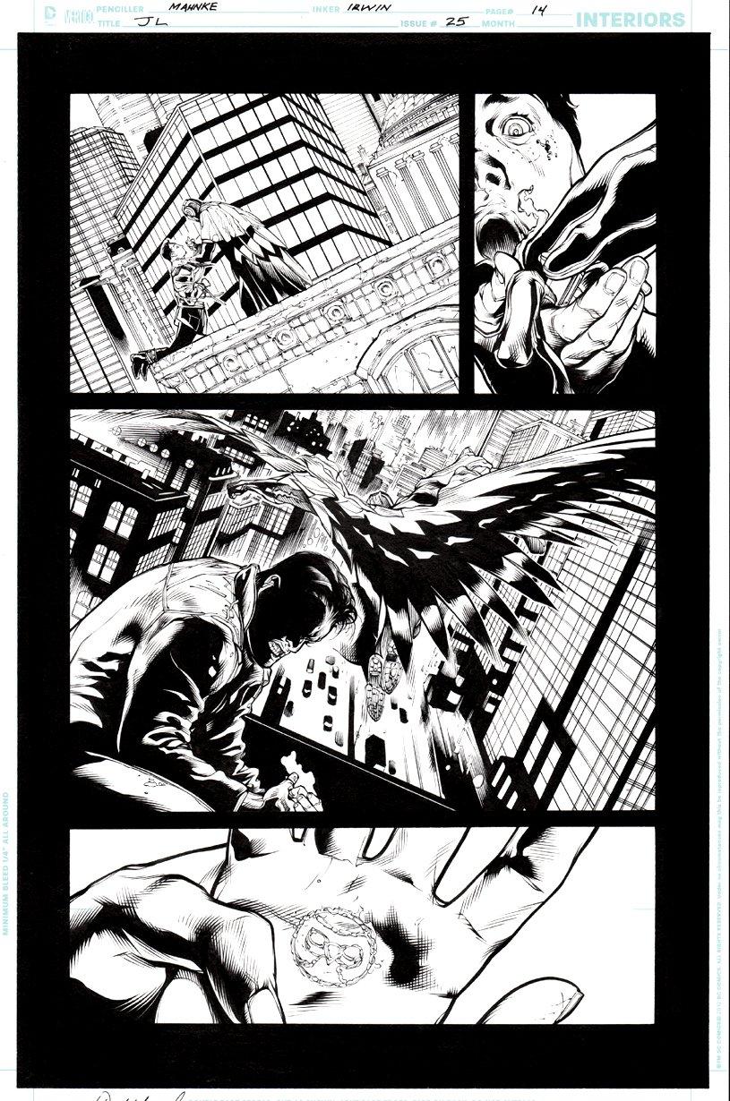 Justice League #25 p 14 (Crime Syndicate - Owlman & Grid) 2013
