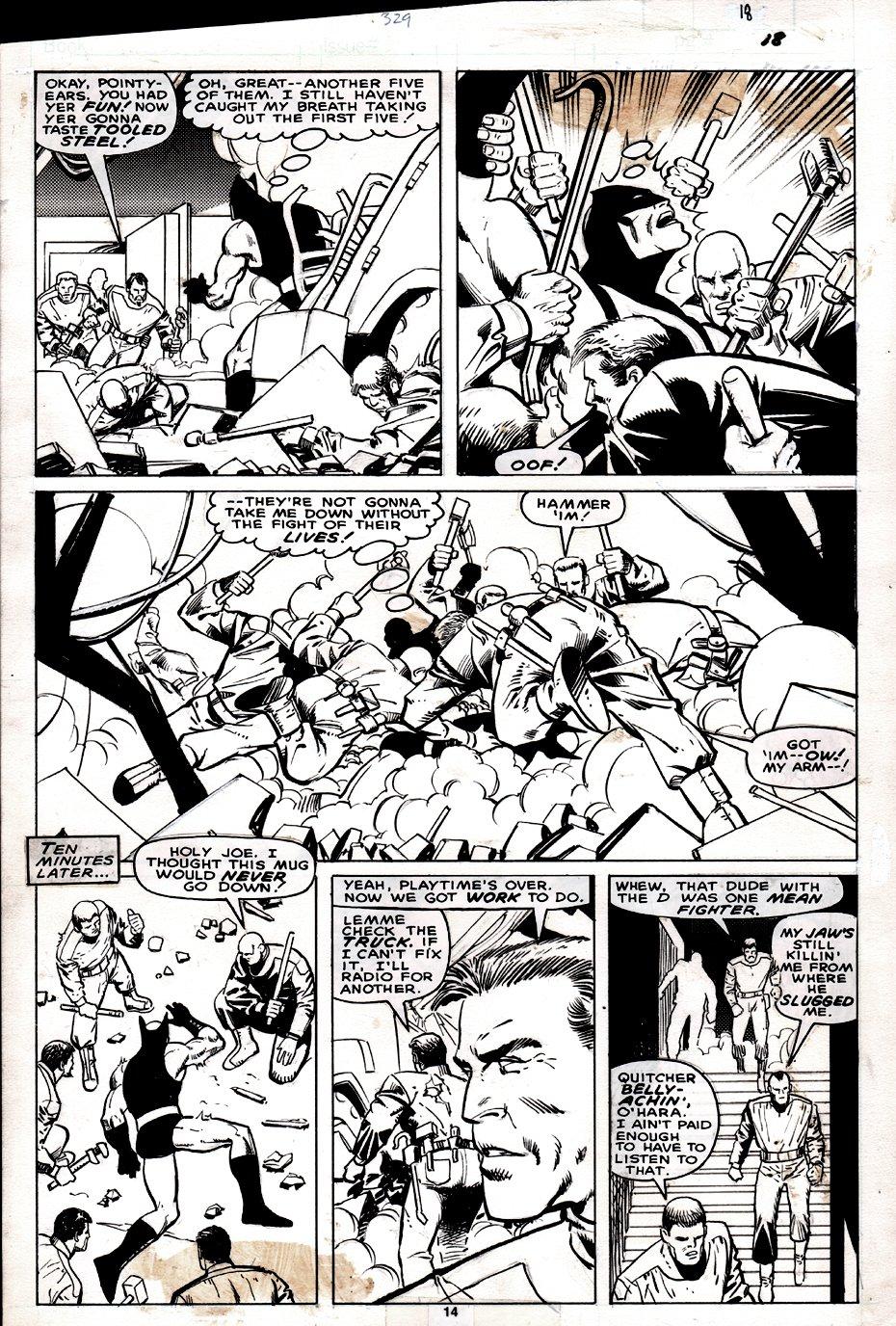 Captain America #329 p 14 (Demolition Man Battle!) 1987