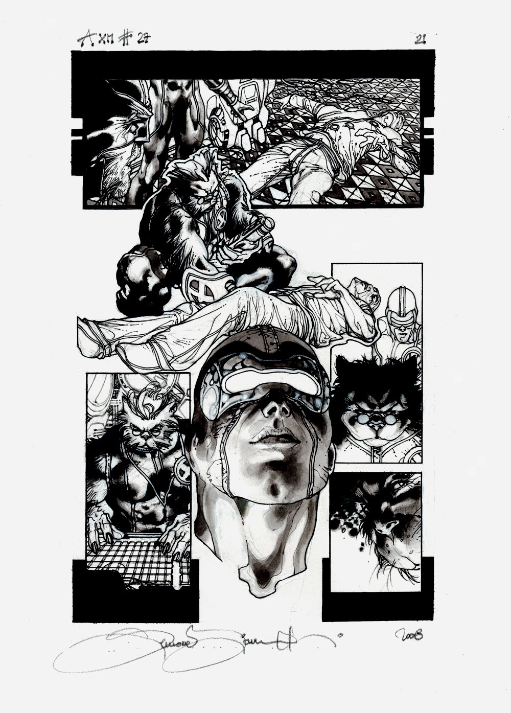 Astonishing X-Men #27 p 21 (BEAST & CYCLOPS THROUGHOUT!) 2008