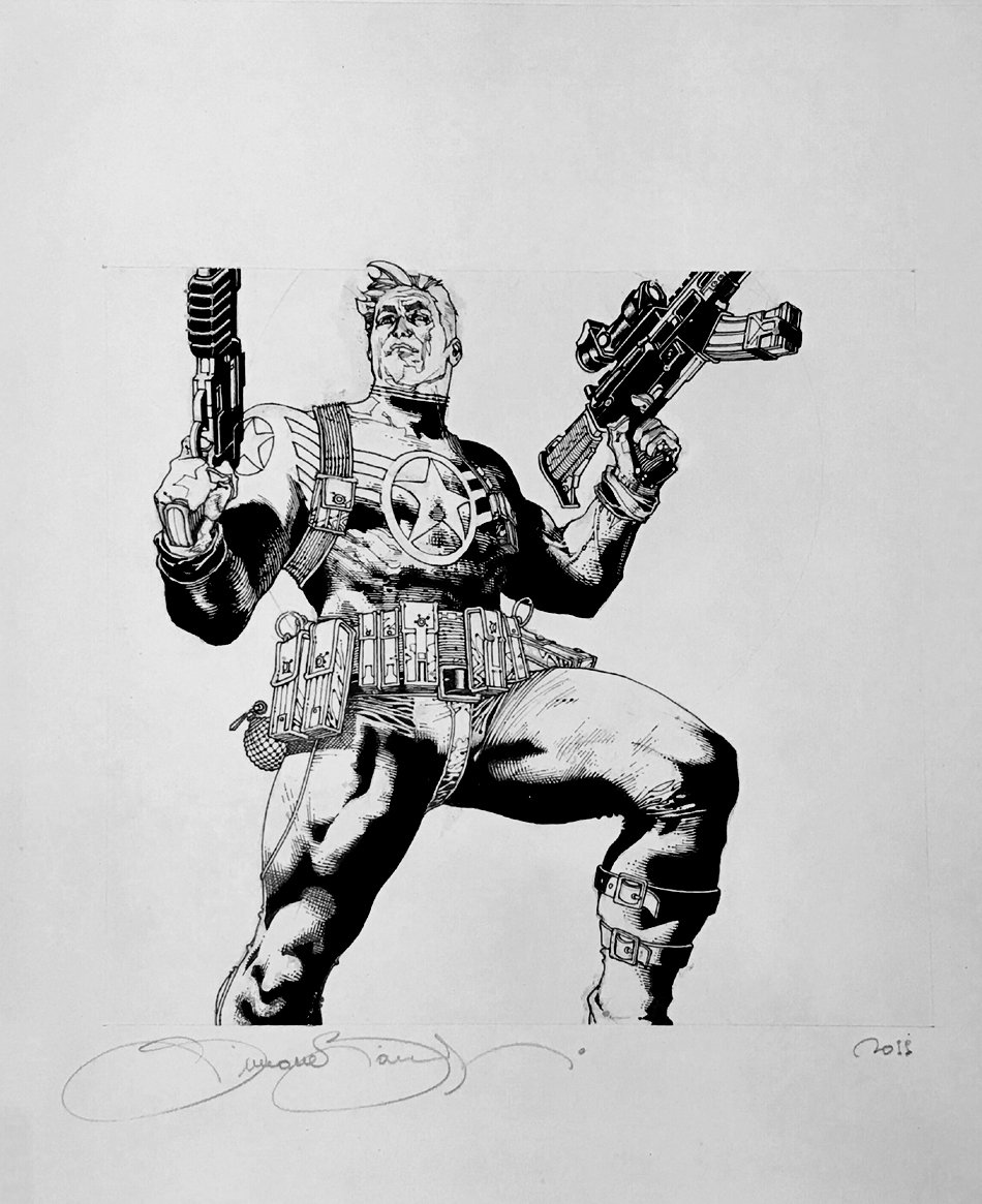 Captain America Published Pinup For HASBRO Toys (2011)