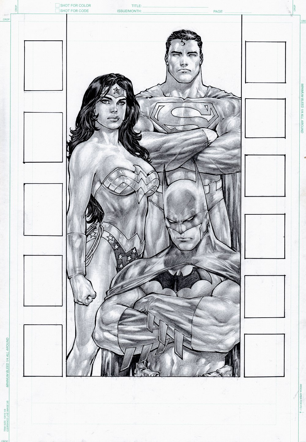 Justice League of America #25 p 1 SPLASH (Superman, Batman, Wonder Woman!) 2008