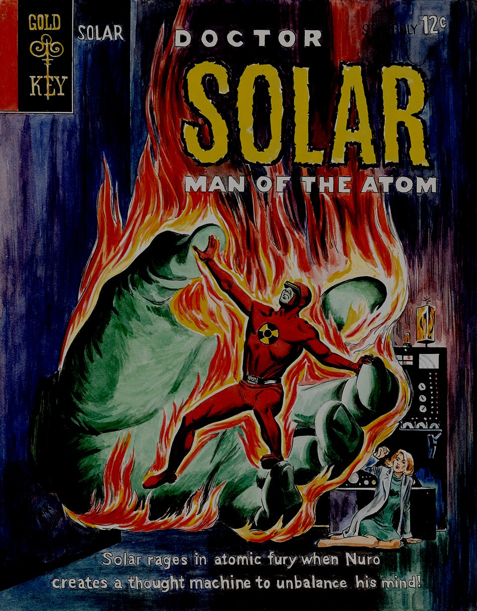 Doctor Solar, Man of the Atom #8 Cover Painting Recreation