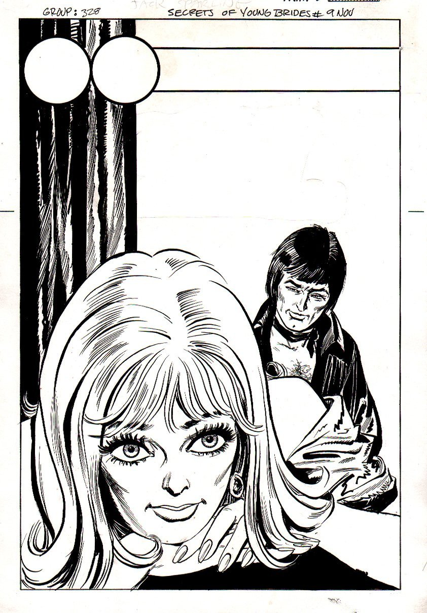 Secrets of Young Brides #9 Unused Cover (1976)