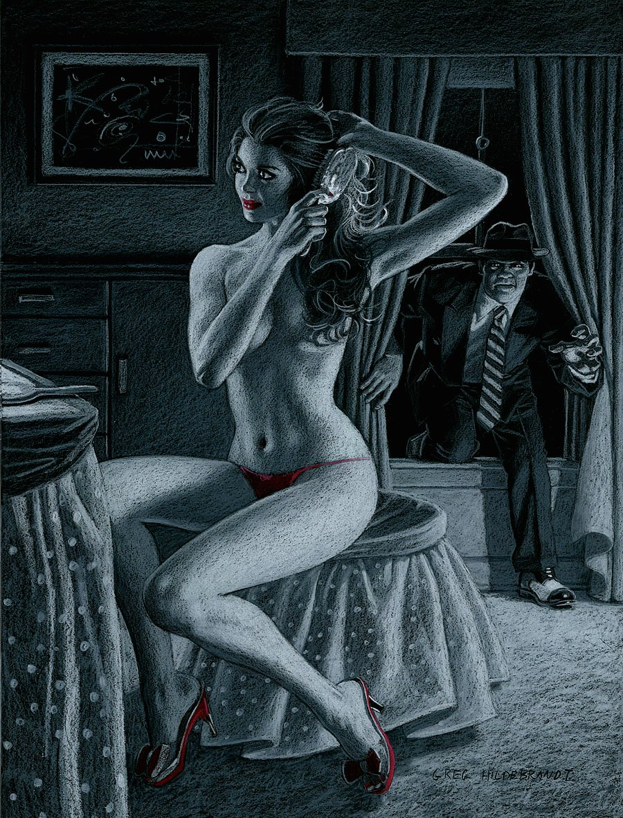'Rear Window' Super Sexy Mixed Media Pinup (Very Large) 2013