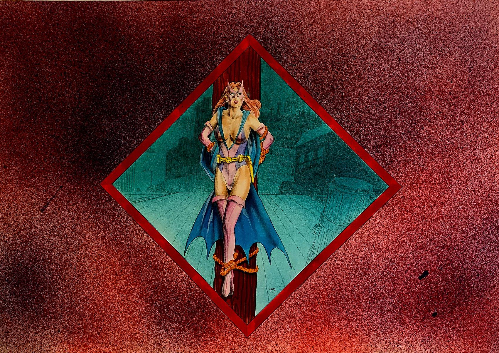 Huntress In Bondage Humongous Painting (1980s)
