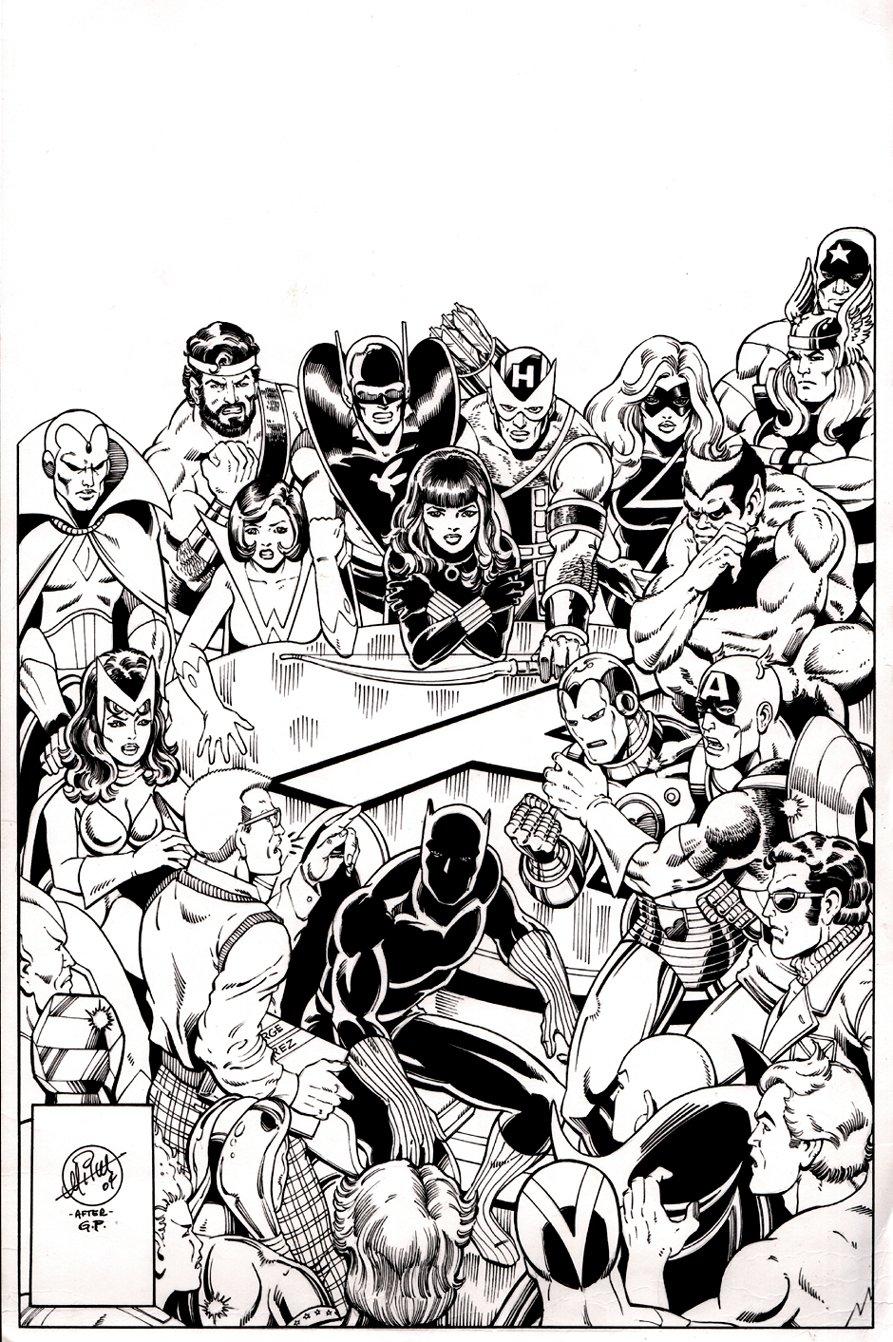 Avengers #181 Cover Recreation (2004)
