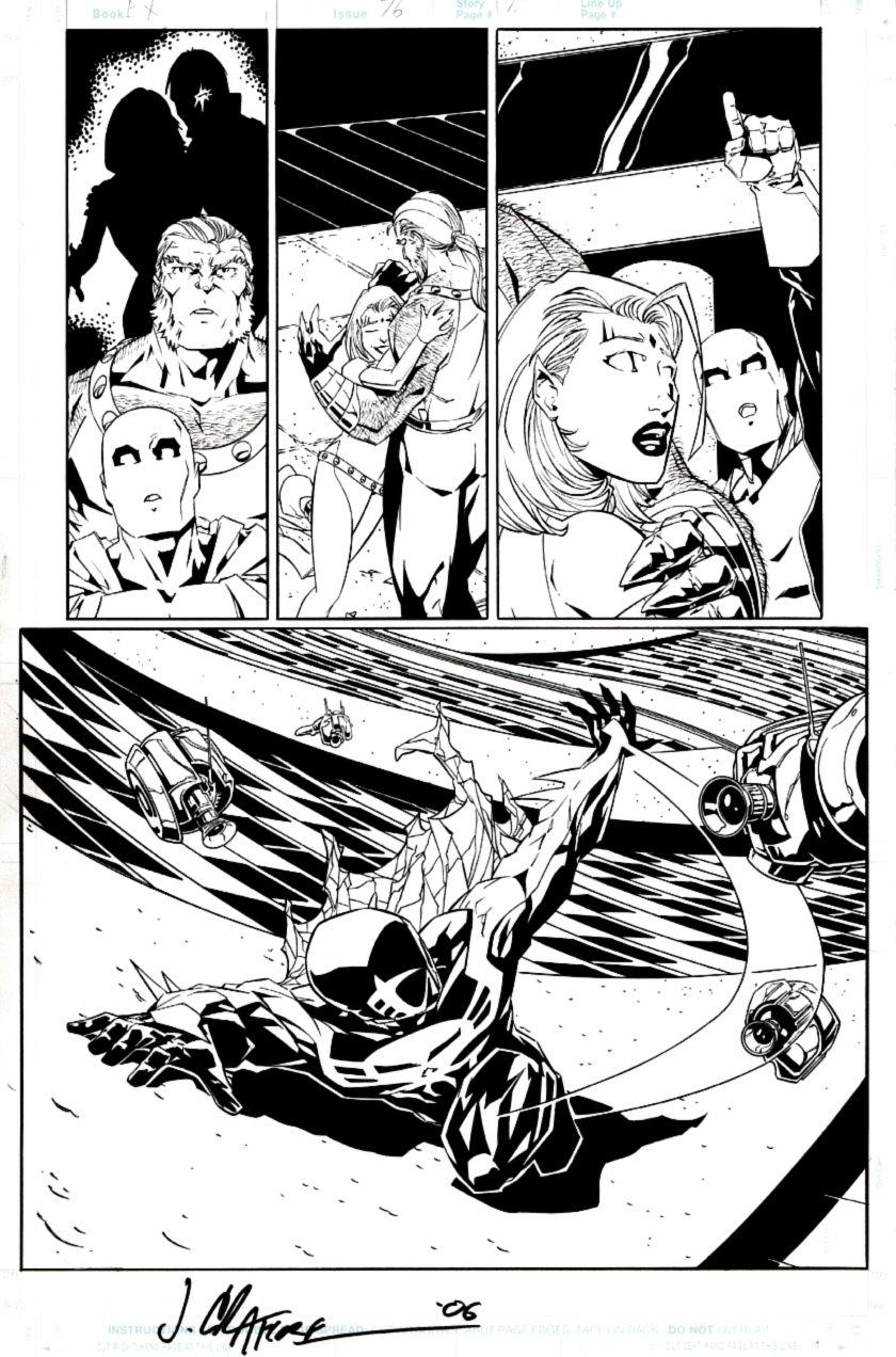 Exiles #76 p 12 Half SPLASH (Spider-Man 2099 & Morph!) 2006