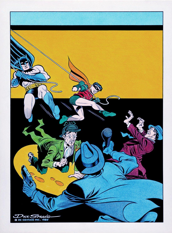 Detective Comics #86 Large Cover Recreation (Batman, Robin, & Sherlock Alfred Battle Robbers!) 1985