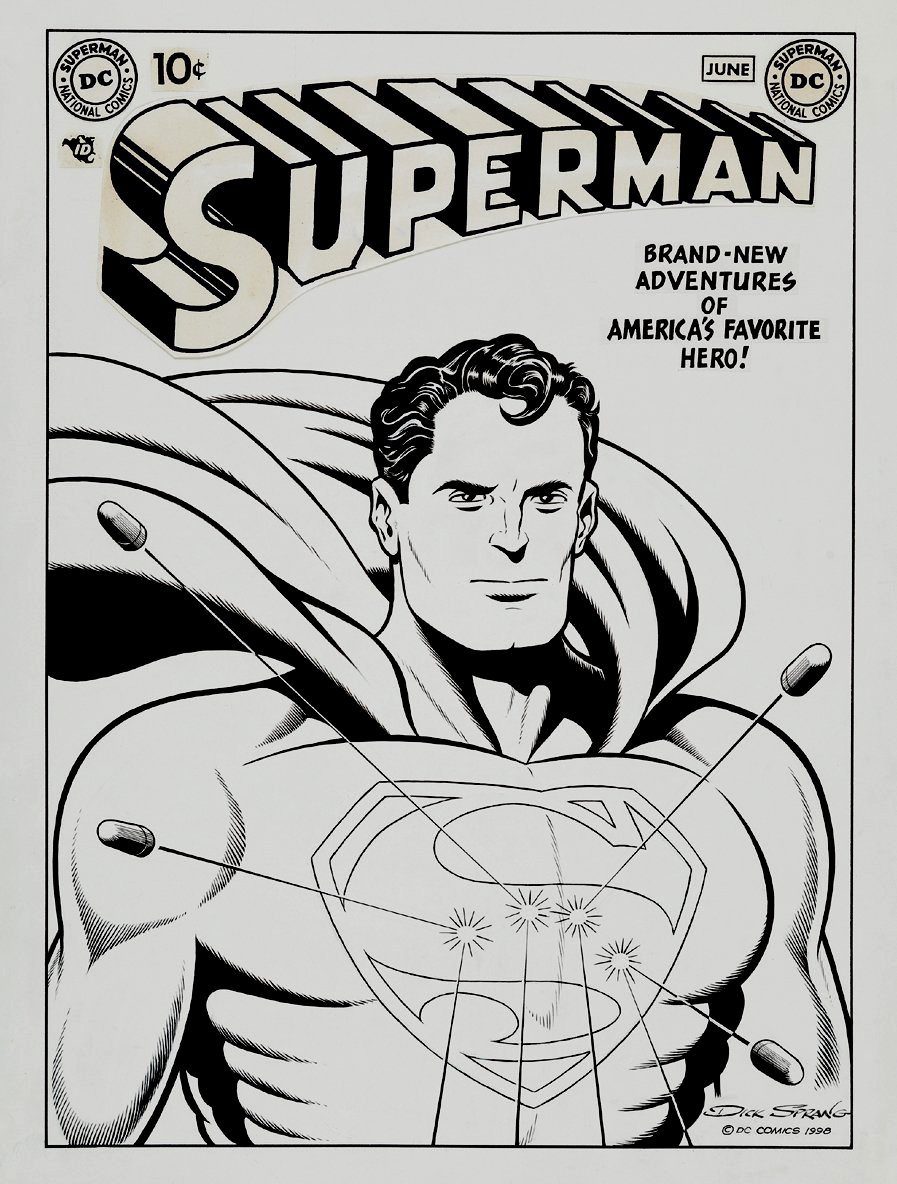 Superman Cover (Large Art) 1998