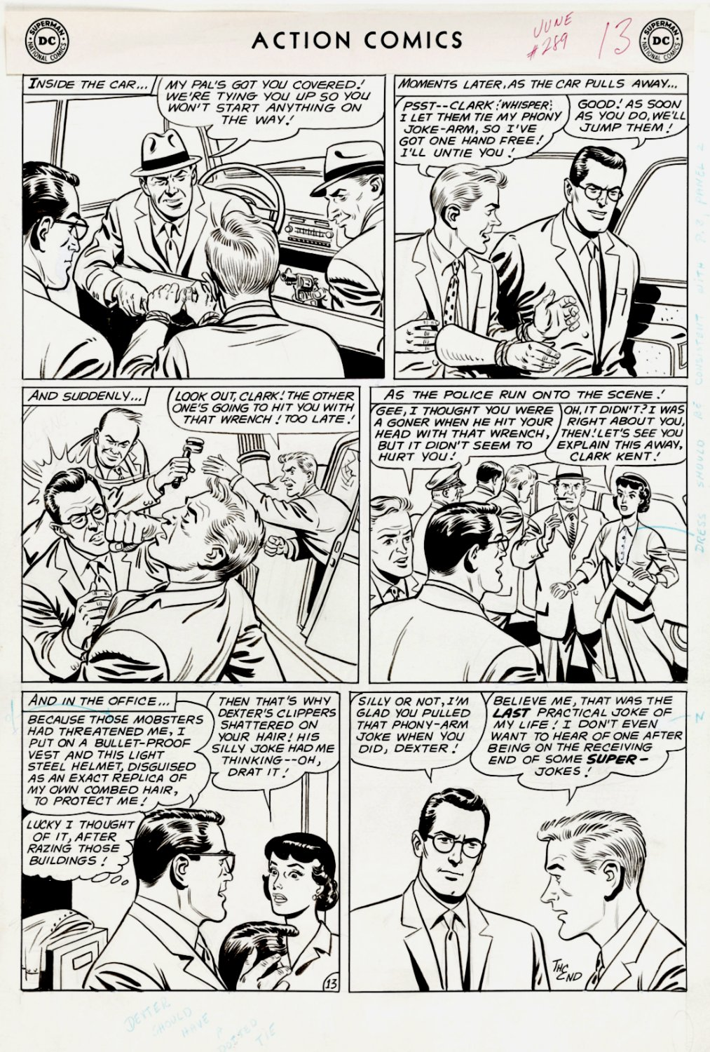 Action Comics #289 p 13 (SOLD LIVE ON THE ROMITAMAN ART DROP PODCAST: 8-28-2021 (RE-WATCH THIS FUNNY ART SELLING SHOW HERE)