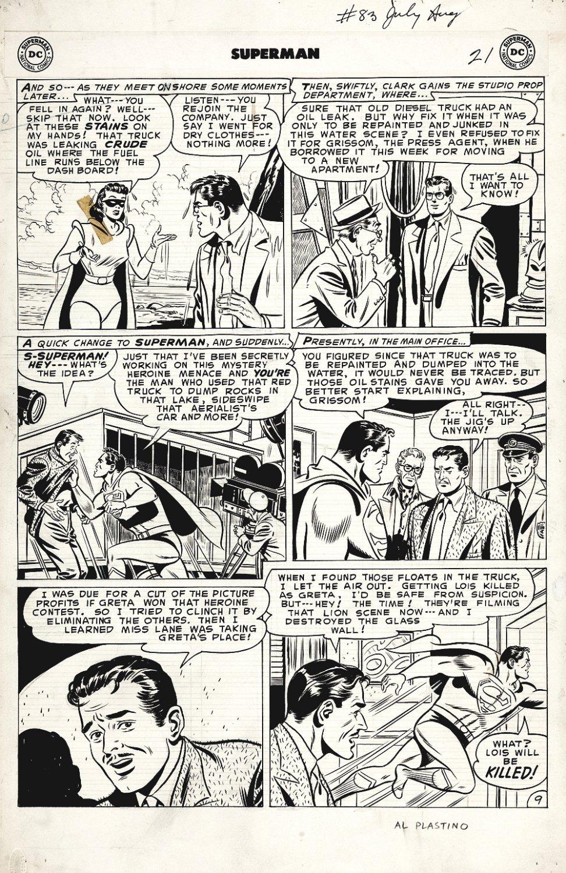Superman #83 p 9 (Large Art) 1953