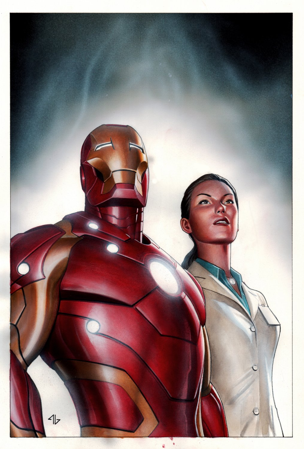 Iron Man Heroes Unite #1 Cover Painting