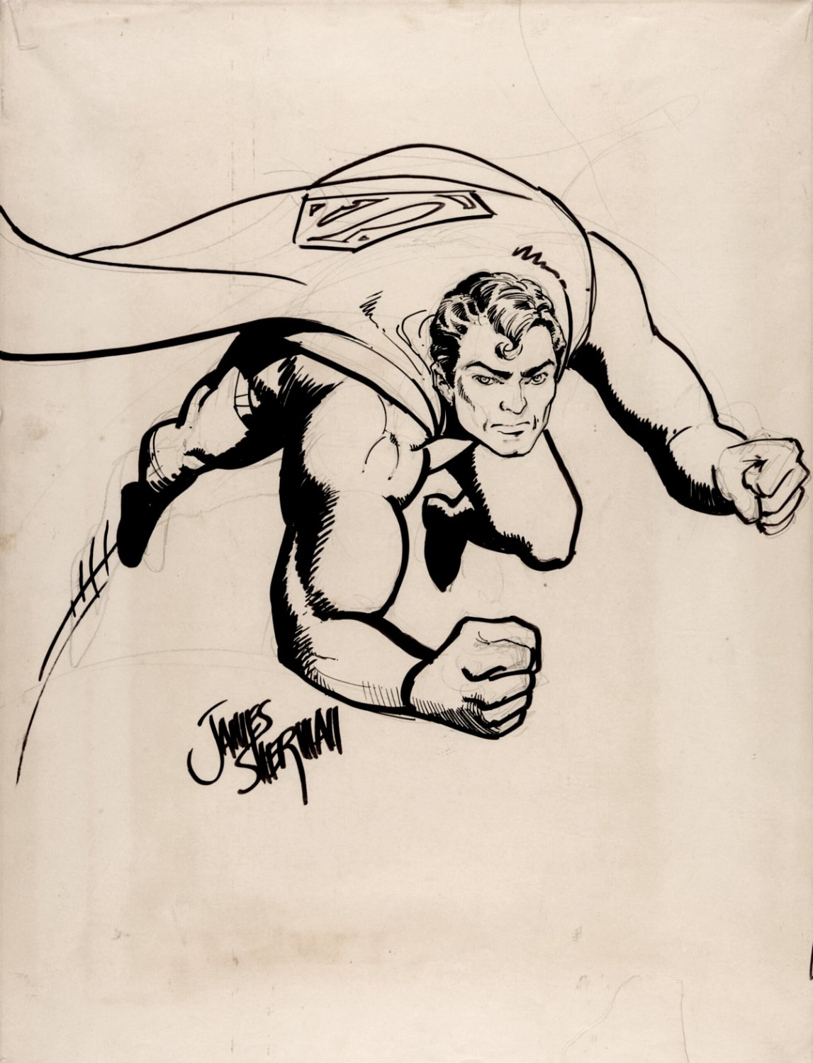 VERY LARGE 1970s Superman Pinup SOLD LIVE ON 'DUELING DEALERS PRO-AM' EPISODE #7 PODCAST ON 9-14-2021