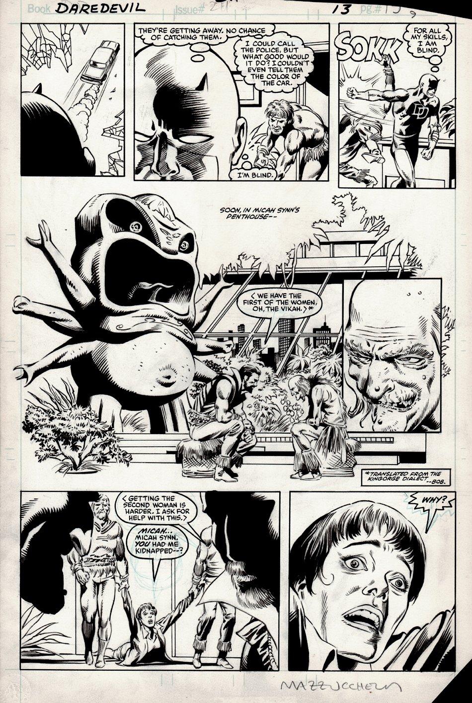 Daredevil #211 p 13 (CLASSIC STORY) 1984