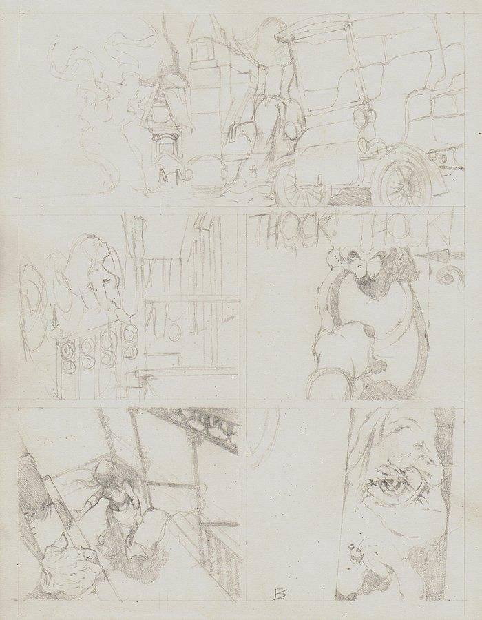Vampirella #5 p 1 Pencils (1970)