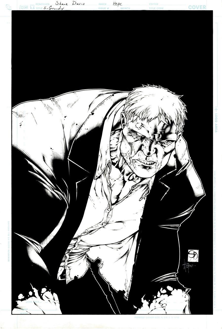 Faces of Evil: Solomon Grundy #1 Cover (2008)