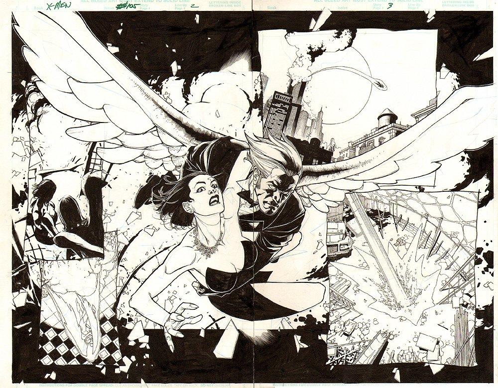 X-Men #105 p 2-3 Double Splash (2000)