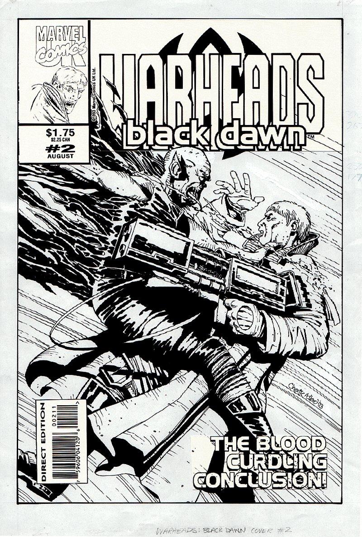 Warheads: Black Dawn #2 Cover (1993)