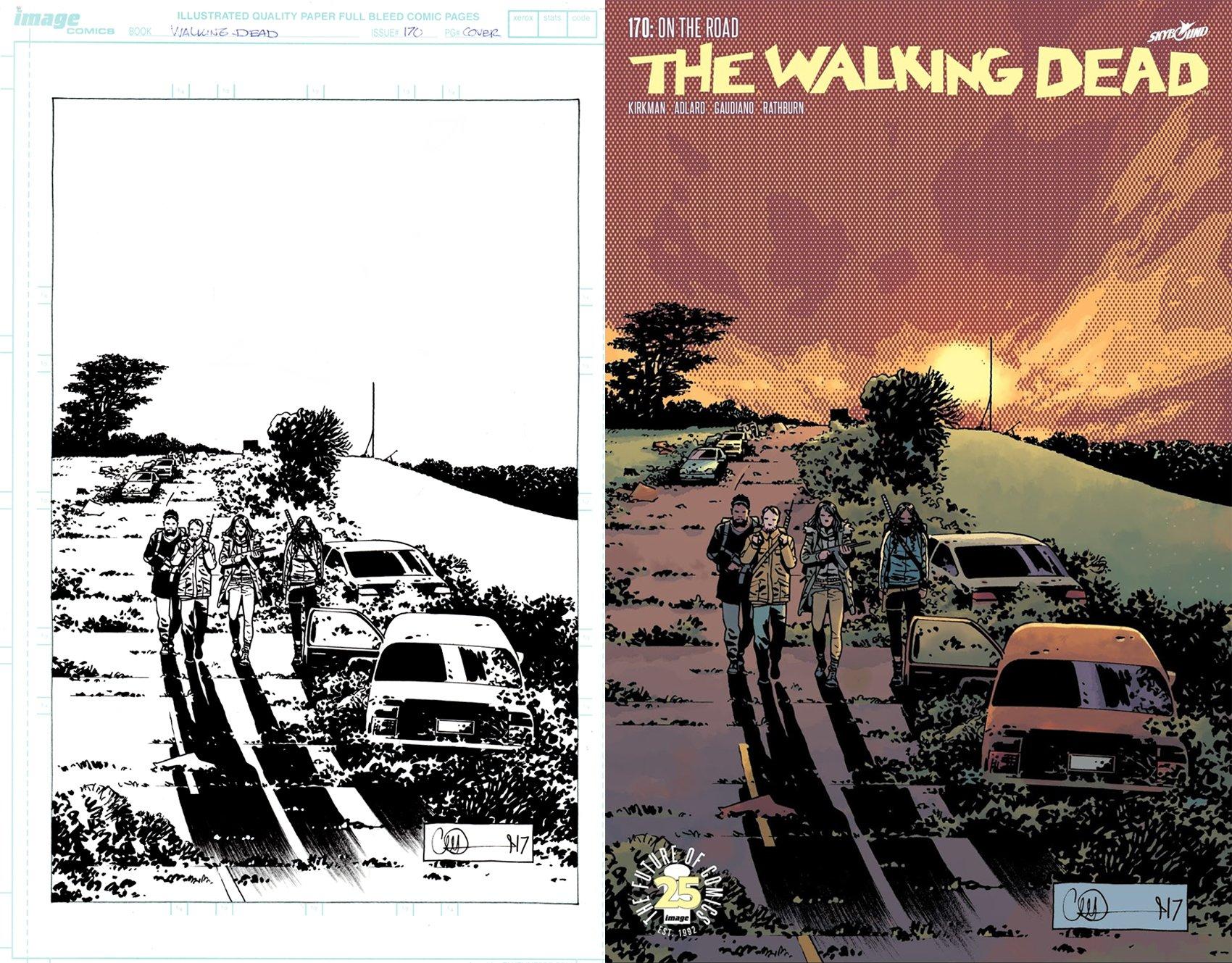 The Walking Dead #170 Cover (Michonne, Eugene, Magna, Siddiq!) 2017