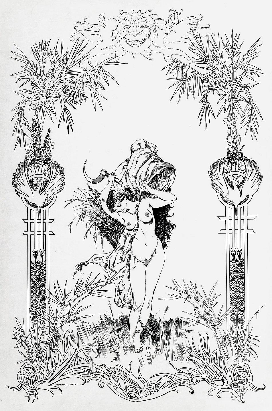 Ceres Gods of Mythology Illustration (Very Large)