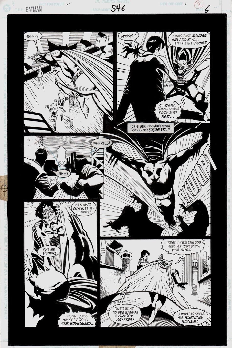 Batman #546 p 6 (BATMAN, THE JOKER, THE DEMON!) 1997