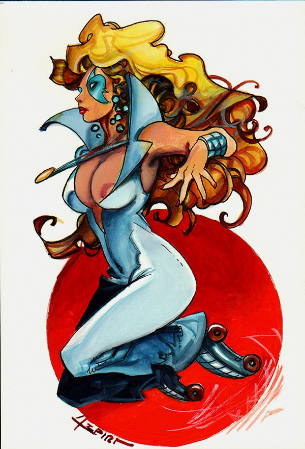 Dazzler Mixed Media Pinup