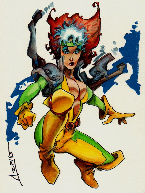 Rogue Mixed Media Pinup