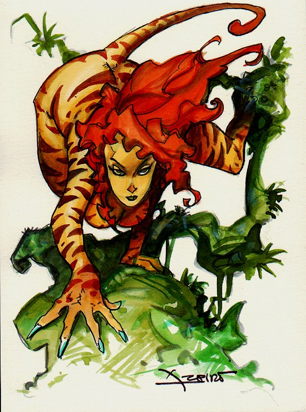 Tigra Mixed Media Pinup