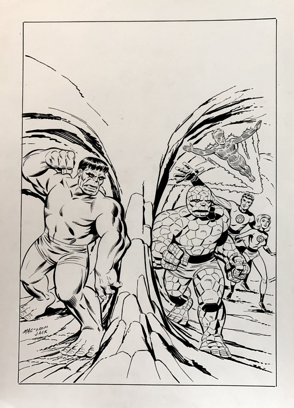 Fantastic Four #12 Cover Recreation