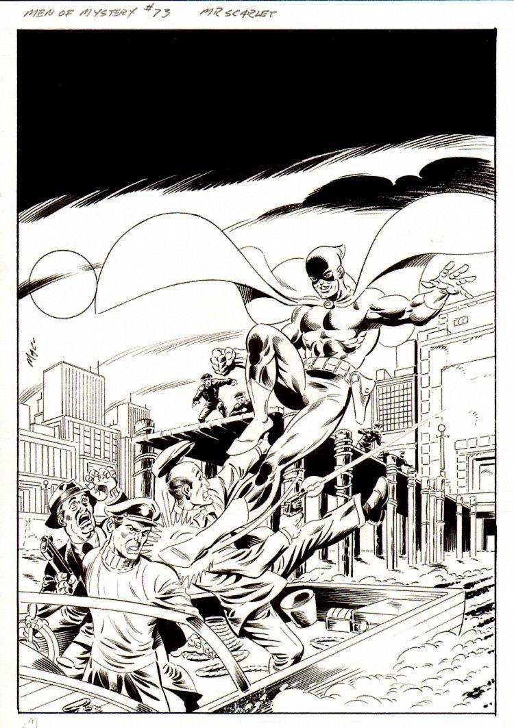 Men of Mystery #73 Cover (Mr. Scarlet Battles Bad Guys On A Pier!)!)