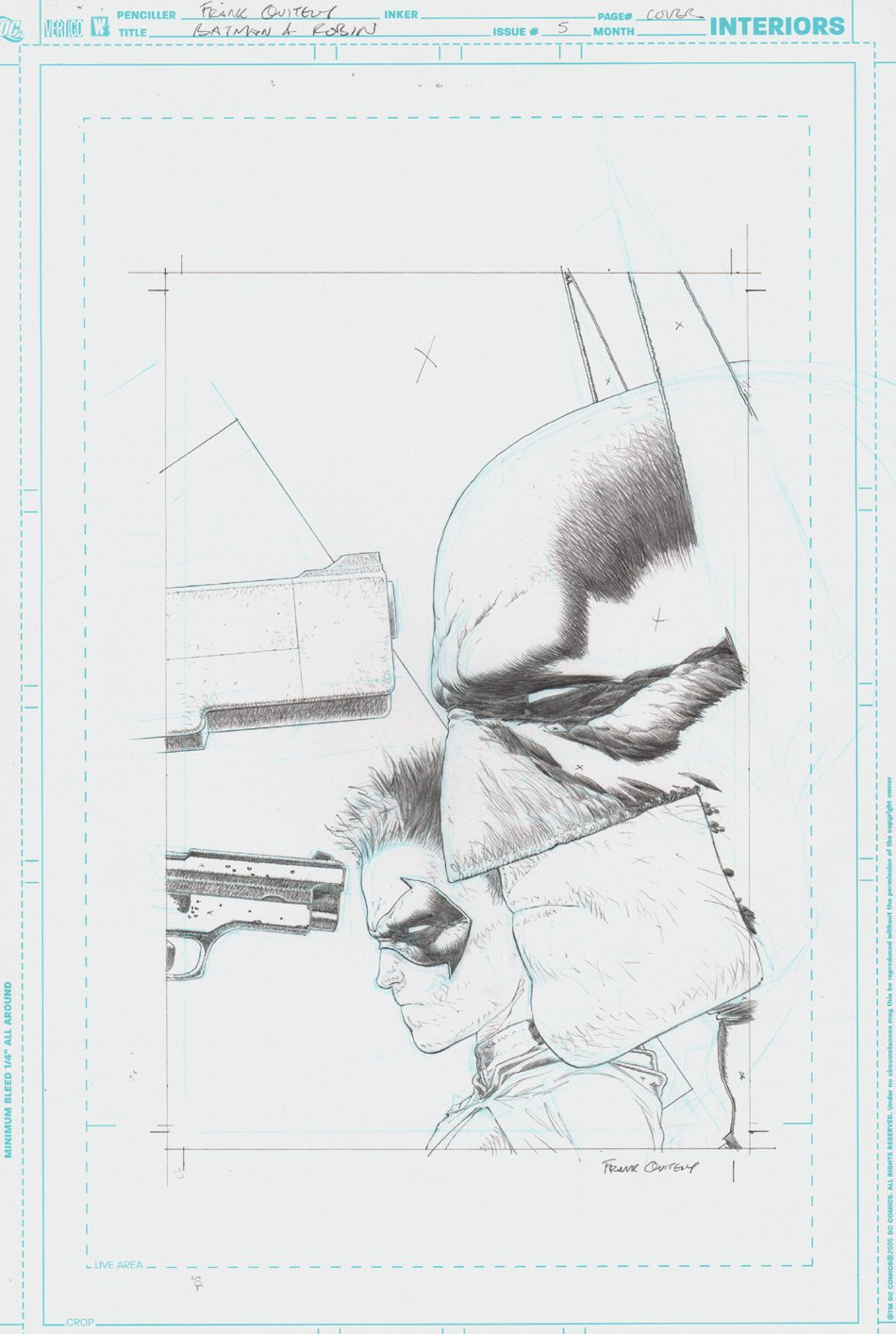 Batman and Robin #5 Cover (2009)