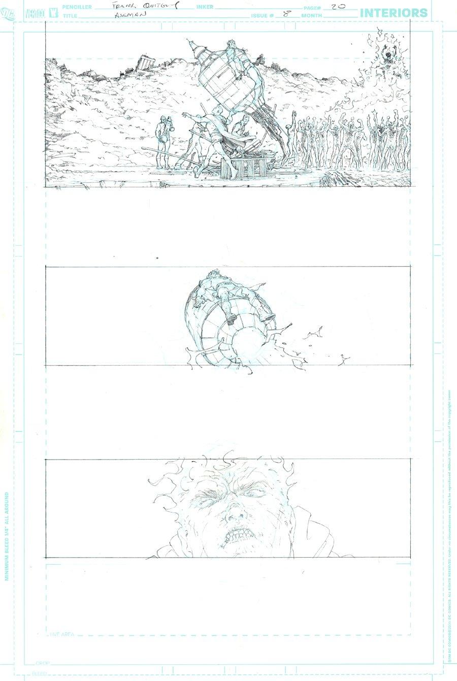 All Star Superman #8 p 20 (COVER SCENE, SUPERMAN VS BIZARRO!) 2007