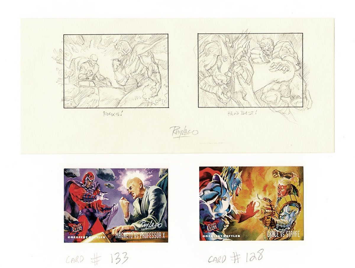 2 Fleer Ultra X-Men Card Prelims (#128 & #133)