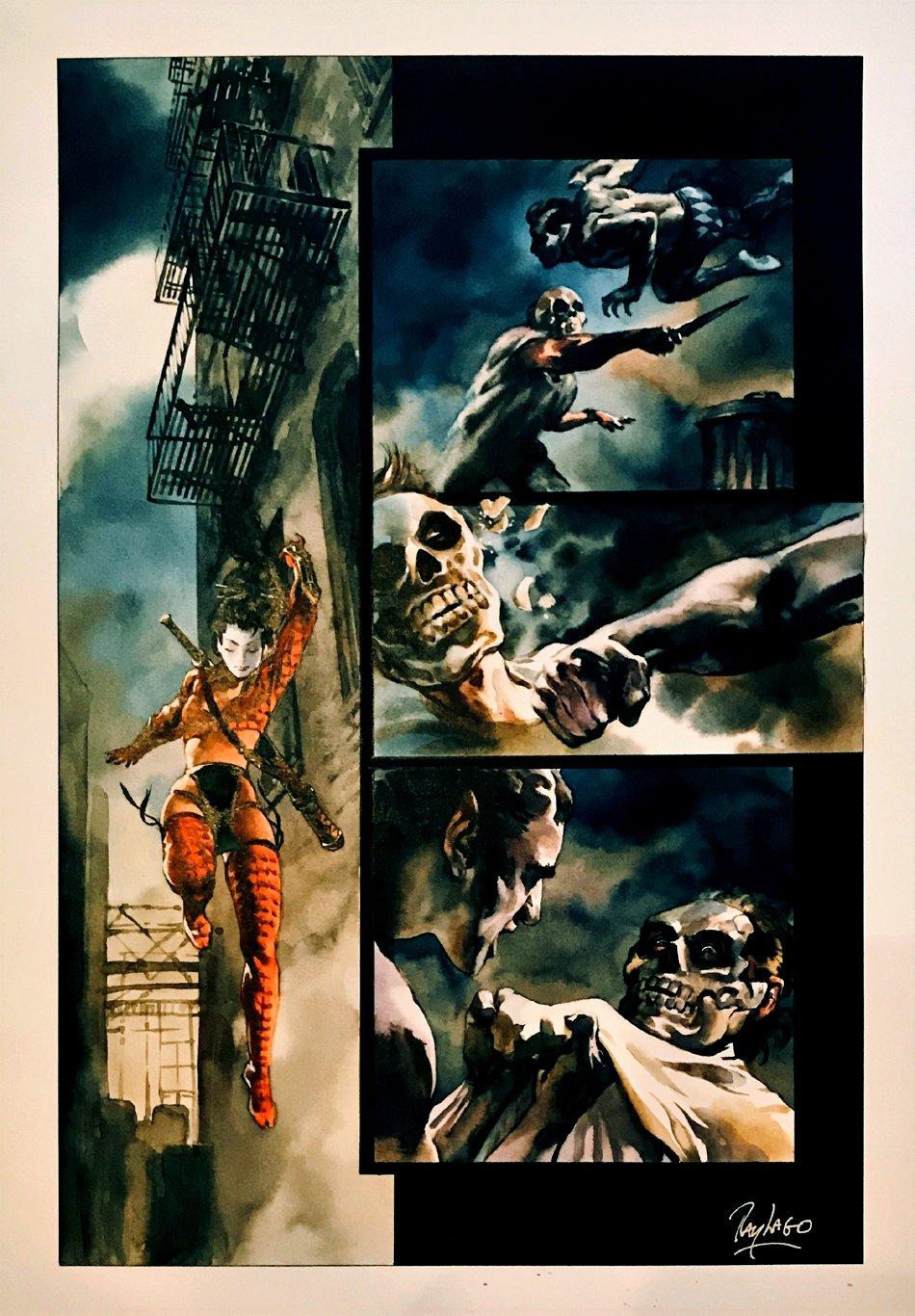 Shi: Masquerade #1 p 6 Painting (Large Art) 1998