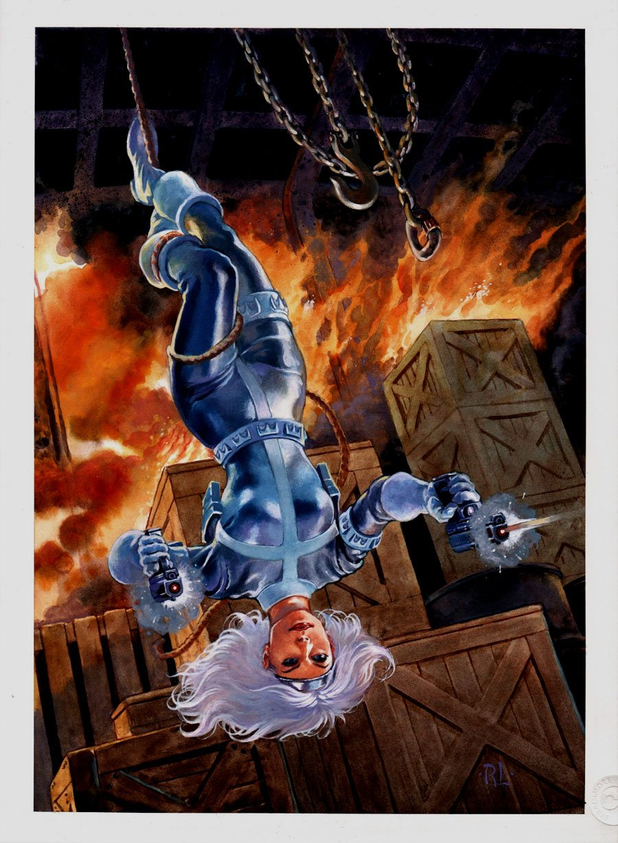 Marvel Flair 'Silver Sable' Published Painted Card Art (2019)