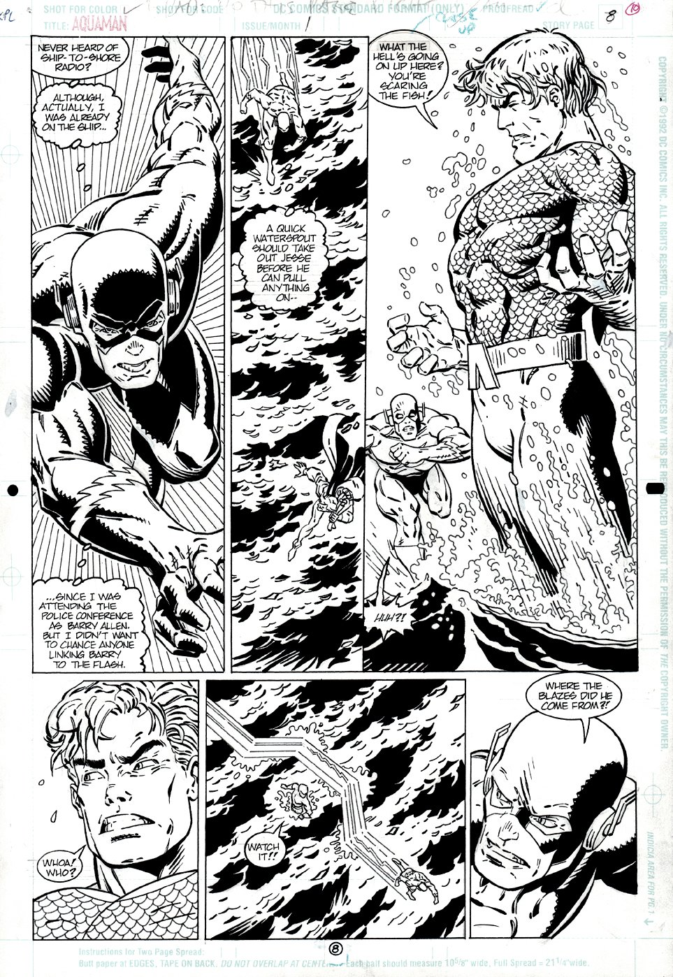 Aquaman: Time and Tide #1 p 8 (FLASH & AQUAMAN THROUGHOUT!) 1994