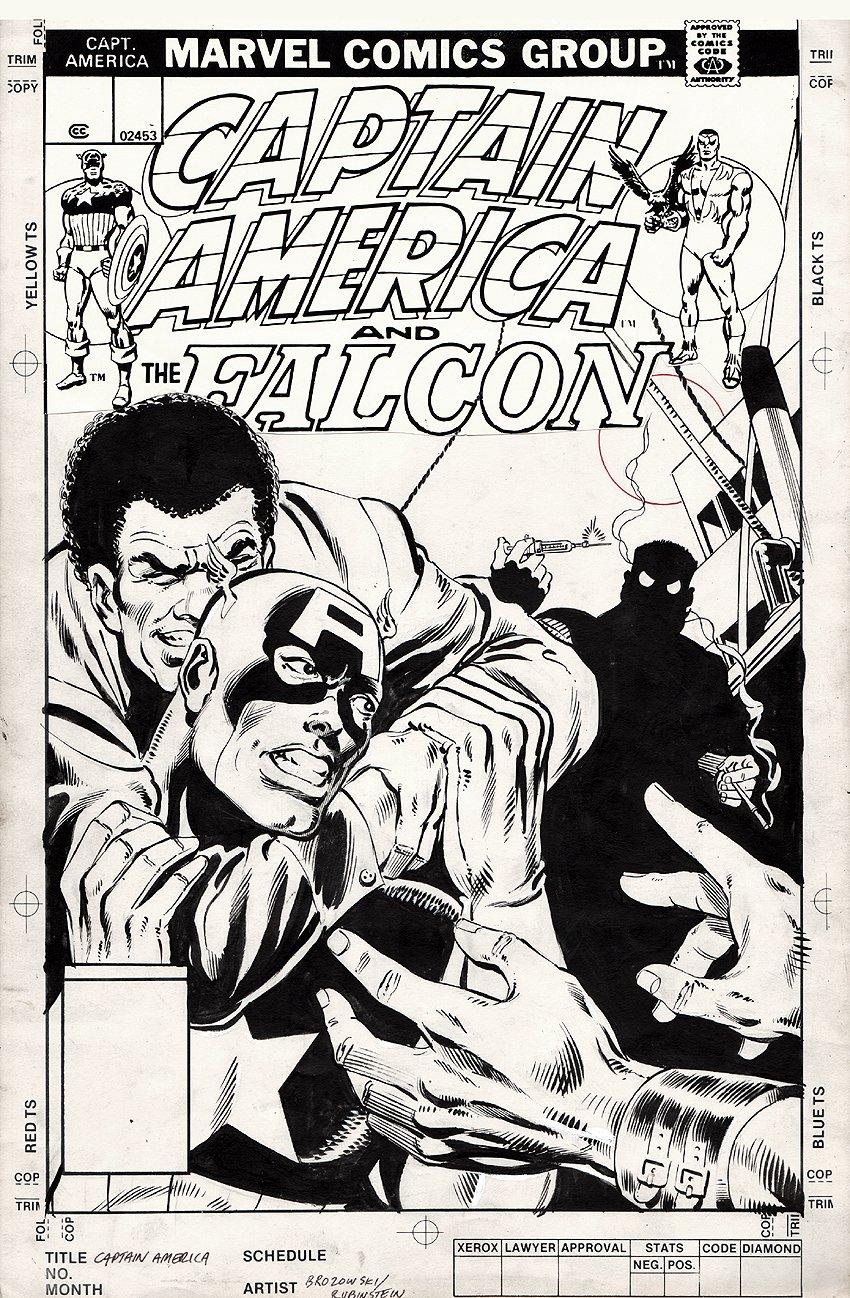 Captain America #236 Un-used Cover (1979)
