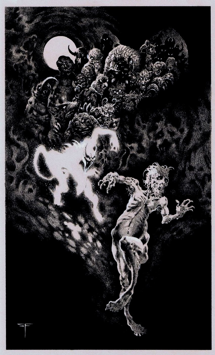 The Horror At Red Hook Horror Book Illustration Page 256 (1975)