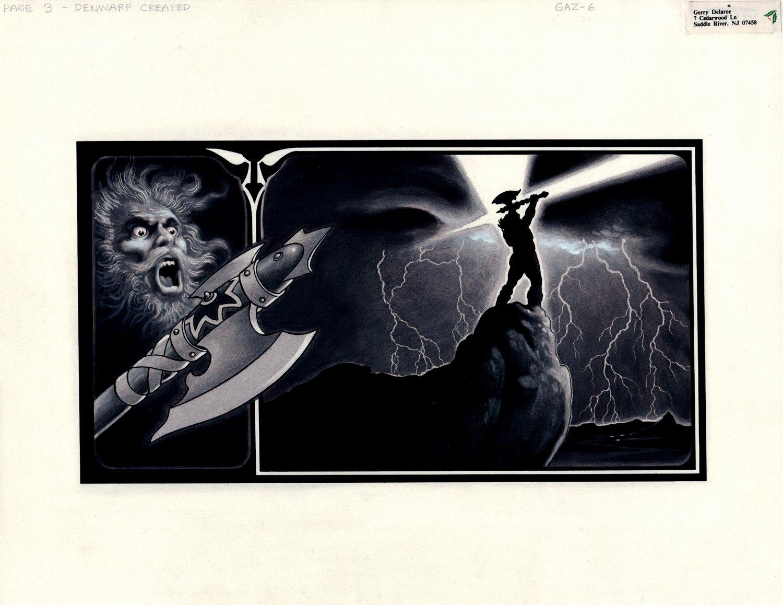 Denwarf Created -  Published Mixed Media Fantasy Illustration