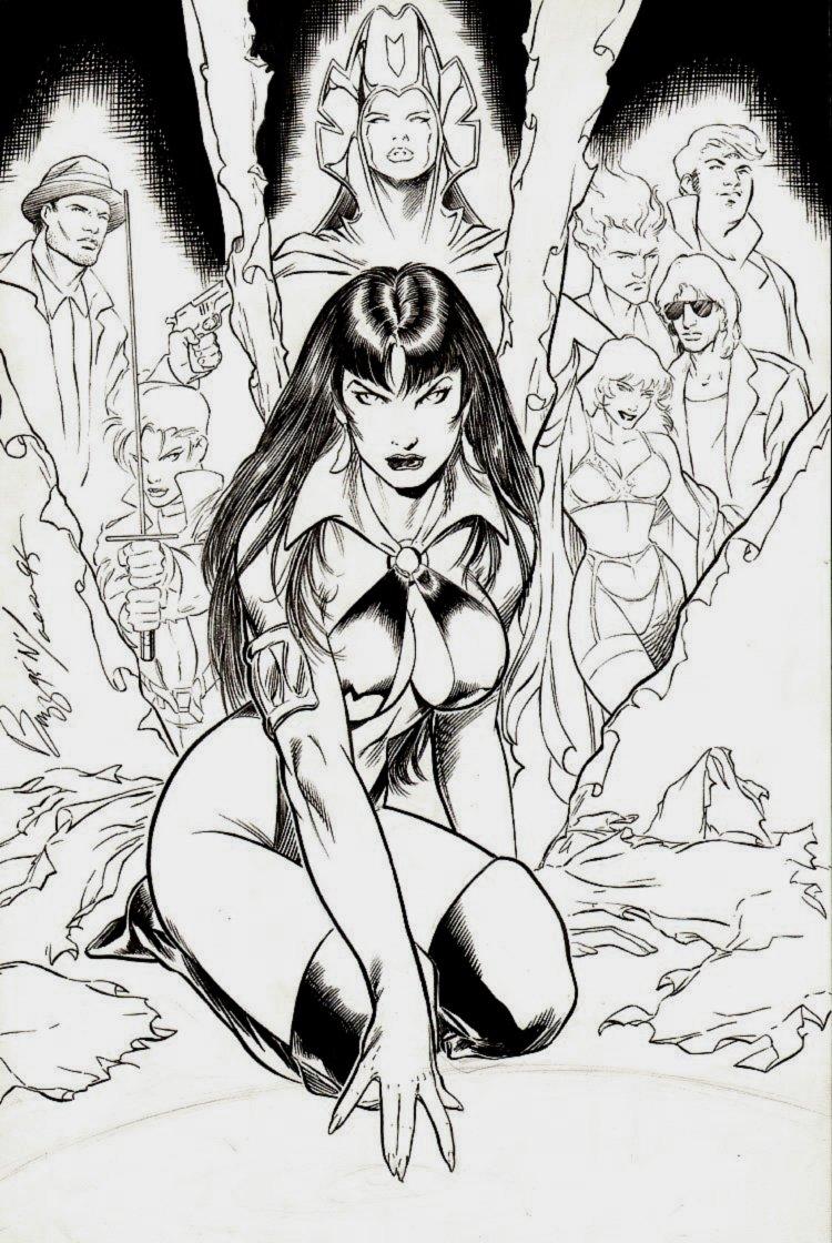 Vengeance Of Vampirella: The Mystery Walk Cover (1995)
